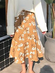 abordables -Mujer Vintage Corte Sirena Faldas - Estampado