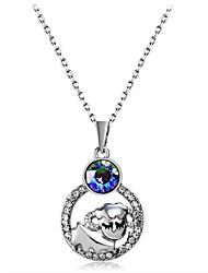abordables -Femme Zircon Plaqué argent Imitation Diamant Pendentif de collier  -  Classique Forme de Cercle Argent Colliers Tendance Pour Soirée