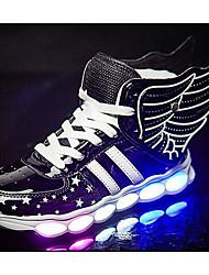 abordables -Garçon Chaussures Polyuréthane Printemps Automne Confort Basket pour Décontracté Or Noir Rouge