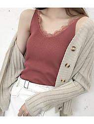 baratos -Mulheres Malha Íntima Vintage Sólido Lã Algodão Linho Poliéster