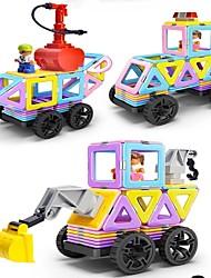 Недорогие -Магнитный конструктор / Конструкторы 138pcs Транспорт / Автомобиль трансформируемый Мальчики Подарок