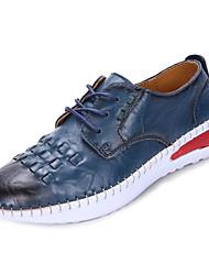 preiswerte -Damen Schuhe PU Frühling Herbst Komfort Flache Schuhe Flacher Absatz für Draussen Weiß Braun Blau