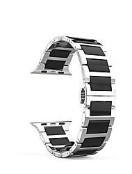 economico -Cinturino per orologio  per Apple Watch Series 3 / 2 / 1 Apple Chiusura classica Acciaio inossidabile Custodia con cinturino a strappo