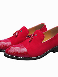 cheap -Shoes Synthetic Microfiber PU Spring Summer Formal Shoes Novelty Comfort Loafers & Slip-Ons Rivet for Wedding Party & Evening Black Red