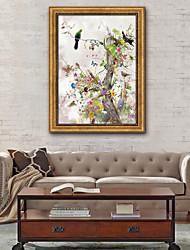 Недорогие -Цветочные мотивы/ботанический Иллюстрации Предметы искусства,ПВХ материал с рамкой For Украшение дома Предметы искусства в рамках