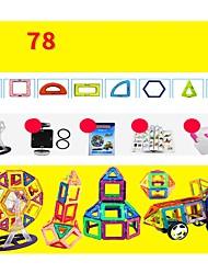 Недорогие -Магнитный конструктор Конструкторы 78 pcs Архитектура Транспорт Воин трансформируемый Взаимодействие родителей и детей Современный Классический и неустаревающий Изысканный и современный