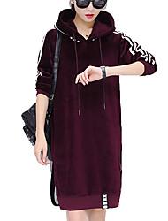 cheap -Women's Long Sleeves Hoodie - Solid, Modern Style