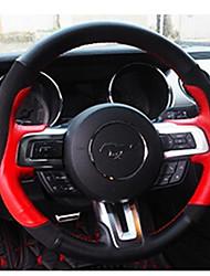 Недорогие -автомобильные крышки рулевого колеса (кожа) для ford 2015 2016 2017 mustang
