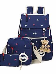 cheap -Women Bags Canvas Bag Set 3 Pcs Purse Set Pattern / Print for Casual Outdoor Winter Sky Blue Light Green Dark Blue Red Black