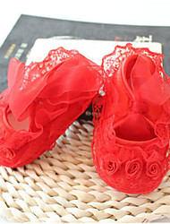cheap -Shoes Lace / Fabric Spring & Summer Comfort / First Walkers Flats for Baby Yellow / Red / Pink