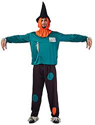 cheap -Wizard Cosplay Costume Men's Halloween Festival / Holiday Halloween Costumes Green Halloween Halloween