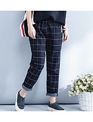 cheap -Women's High Rise Inelastic Loose Chinos Pants,Vintage Loose Chinos Striped Color Block