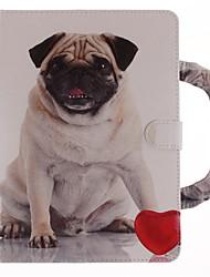 preiswerte -Hülle Für Apple iPad mini 4 Kreditkartenfächer mit Halterung Muster Handyhülle für das ganze Handy Hund Hart Kunst-Leder für iPad Mini 4