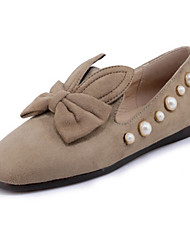 cheap -Women's Shoes Nubuck leather Spring Summer Comfort Novelty Loafers & Slip-Ons Low Heel Round Toe Square Toe Bowknot Beading for Office &