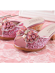 economico -Da ragazza Scarpe Brillantini Paillette Primavera Estate Scarpe da cerimonia per bambine Comoda Sandali per Casual Argento Rosa