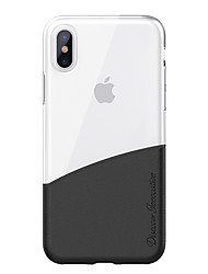 cheap -Case For Apple iPhone X iPhone X Translucent Back Cover Transparent Hard TPU for iPhone X