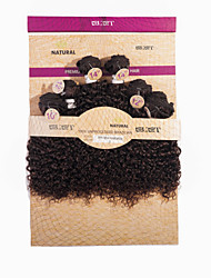 cheap -Brazilian Hair Virgin Human Hair Kinky Curly Human Hair Weaves 1pc Hair Weft with Closure
