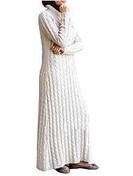 abordables -Mode Jalabiya Robe caftan Abaya Robe Arabe Femme Fête / Célébration Déguisement d'Halloween Blanc Noir Rouge Bleu Couleur Pleine