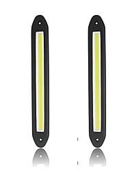 cheap -2pcs COB Led Daytime Running light 100% Waterproof COB Day time Lights flexible LED Car DRL Driving DC12V