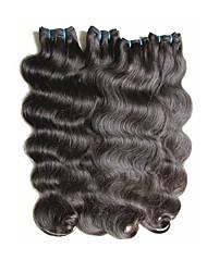 economico -A buon mercato 8a capelli vergini brasiliani dell'onda del corpo 4 pacchi 400g lotto estensioni remy brasiliane dei capelli umani tesse il