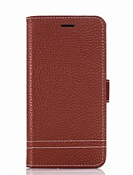 cheap -Case For LG K8 (2017) K10 (2017) Card Holder Wallet with Stand Flip Full Body Cases Solid Color Hard PU Leather for LG X Power 2 LG X