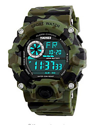 Недорогие -SKMEI Наручные часы Цифровой Стеганная ПУ кожа Черный / Зеленый 50 m Защита от влаги Календарь Хронометр Цифровой На каждый день Мода - Розовый Светло-Зеленый Темно-зеленый / Фосфоресцирующий