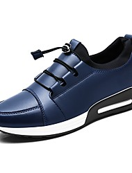 cheap -Men's Shoes Leatherette Spring Fall Comfort Loafers & Slip-Ons for Casual Office & Career Black Dark Blue Gray