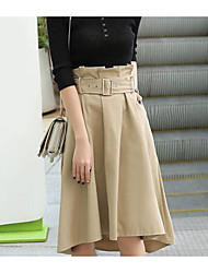 cheap -Women's Casual/Daily Knee-length Skirts,Simple Pencil Rivet Solid Winter Autumn/Fall