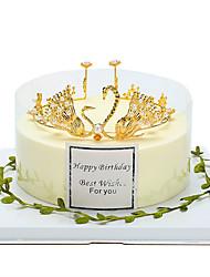 baratos -Decorações de Bolo Tema Fadas Romance Aniversário Boa Sorte Liga Casamento Aniversário com Pedrarias Perola Imitação 1pcs Bolsa de Ofertas