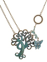cheap -Women's Tree of Life Butterfly European Steampunk Pendant Necklace , Alloy Pendant Necklace , Daily Date