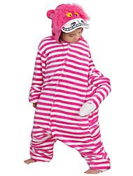 baratos -Crianças / Adulto Pijamas Kigurumi Desenhos Animados / Anime Pijamas Macacão Ocasiões Especiais Flanela Tosão Rosa Cosplay Para Pijamas Animais desenho animado Dia das Bruxas Festival / Celebração