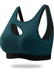 abordables -Sujetadores de Deporte Acolchado Sujeción Ligera Para Yoga - Rojo / Azul Eslático Mujer Nailon