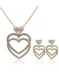 cheap -Women's Jewelry Set - Imitation Diamond Heart European, Fashion Include forehead jewelry / Bridal Jewelry Sets Gold For Wedding / Party