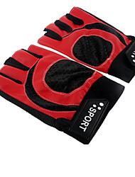 Недорогие -Спортивные перчатки Пригодно для носки Дышащий Ударопрочный Нескользящий Без пальцев Кожа PU Шоссейные велосипеды Разные виды спорта