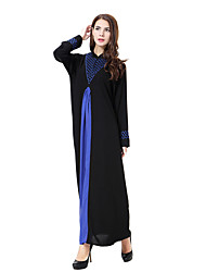 cheap -Women's Boho Loose Dress - Solid Color, Basic Maxi Stand
