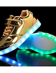 baratos -Para Meninos sapatos Couro Envernizado Primavera Outono Conforto Tênis para Casual Dourado Prata Rosa claro