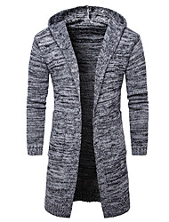 cheap -Men's Weekend Long Sleeves Slim Long Cardigan - Solid Colored Hooded