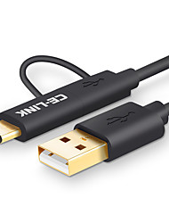 preiswerte -CE-Link USB 2.0 Kabel, USB 2.0 to USB 3.0 Typ C Micro USB 2.0 Kabel Male - Female 2.0m (6.5FT) 480 Mbps