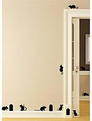 Недорогие -Животные Геометрия Наклейки Простые наклейки 3D наклейки Декоративные наклейки на стены Свадебные наклейки, Бумага Винил Украшение дома
