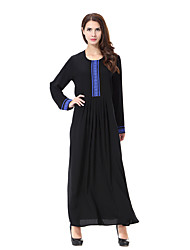 cheap -Women's Boho Loose Dress - Solid Color, Basic Maxi