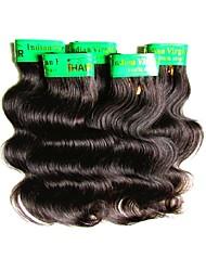 cheap -cheap indian remy human hair body wave 5 bundles 250g lot 6a grade quality soft texture natural black color 50g/bundle