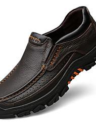 preiswerte -Herrn Schuhe Leder Frühling / Herbst Komfort / formale Schuhe Outdoor Schwarz / Kaffee / Party & Festivität