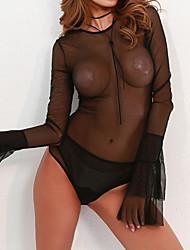 Недорогие -Жен. Комбинация Ночное белье - Чистый цвет, Однотонный