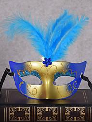 economico -Classico Maschera mascherata Viola Giallo Rosso Blu Fuschia Plastica Accessori Cosplay Mascherata