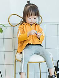 abordables -Pantalones Chica Un Color Algodón Fibra de bambú Licra Primavera Bonito Activo Verde Trébol Negro Naranja Gris