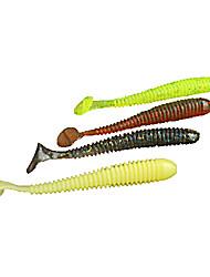 abordables -10 pcs Leurre souple leurres de pêche Leurre souple Silicone Pêche aux spinnerbaits Pêche aux jigs Pêche d'eau douce Pêche générale Pêche