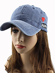 cheap -Women's Work Casual Cotton Sun Hat Baseball Cap - Solid Colored Heart Letter, Stylish Embroidery