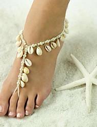 preiswerte -5 Stück Perle Fußakzente Damen Sommer Normal Weiß
