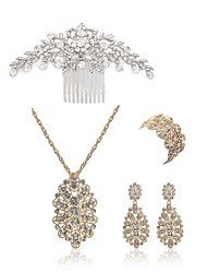 cheap -Women's Hair Combs Bridal Jewelry Sets Rhinestone Imitation Pearl Imitation Diamond Alloy Flower Fashion European Wedding Party Body