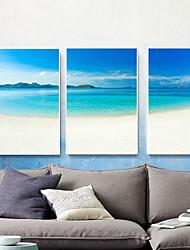 baratos -Paisagem Pintura de Óleo Arte de Parede,Metal Material com frame For Decoração para casa Arte Emoldurada Sala de Jantar